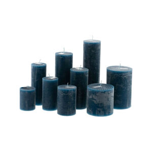 Candle Rustic - Navy Blue H20