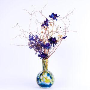 Zijden bloemstuk in Fidrio vaas - groot