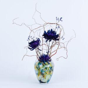 Zijden bloemstuk in Fidrio vaas - klein